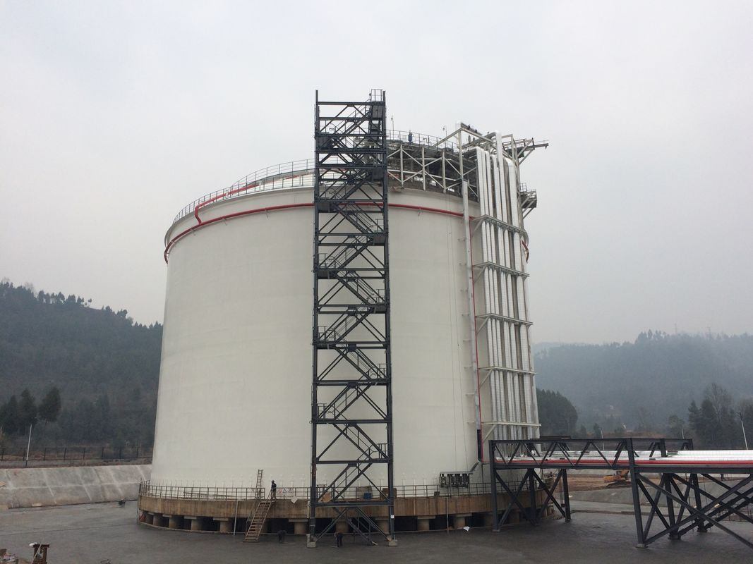 Liquefied Natural Gas Plant LNG Liquefaction Plant 5000m3 Cryogenic Storage Tanks